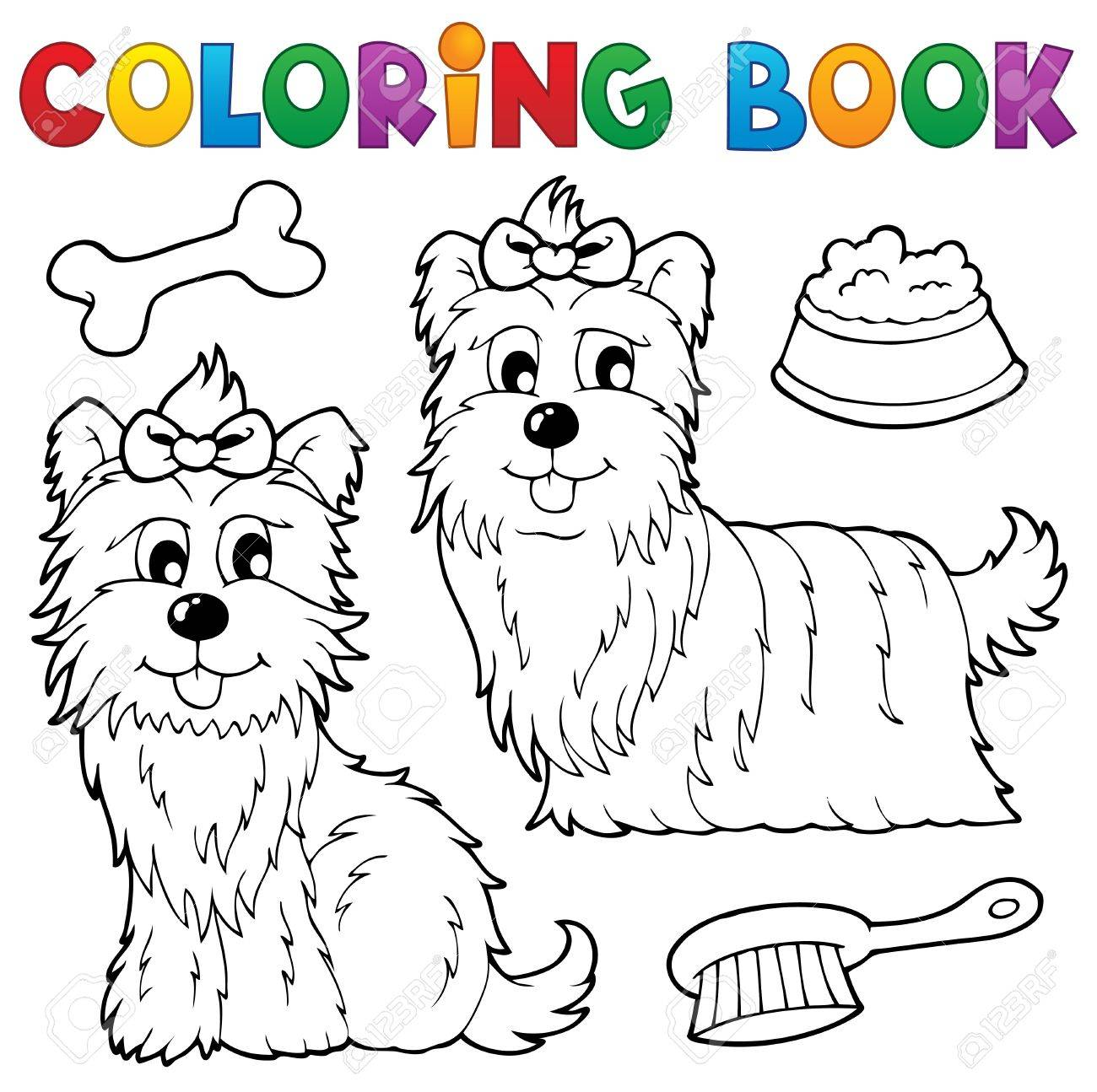 clip art yorkshire terrier coloring pages mycoloring free