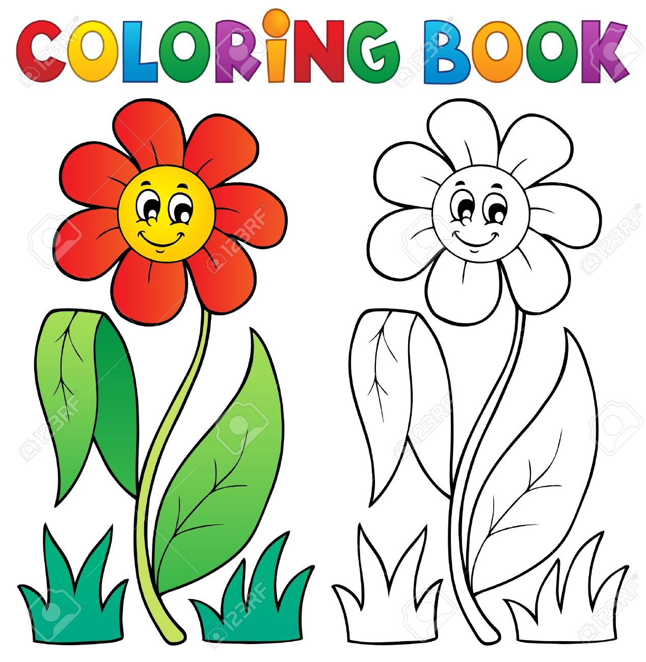 coloring book with flower theme royalty free cliparts vectors and rh 123rf com  fall themed clip art free