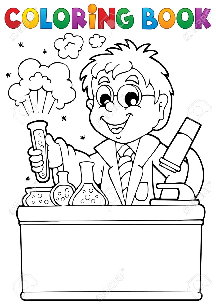 Coloring book school - Coloring Book School Stock Vector 21319097