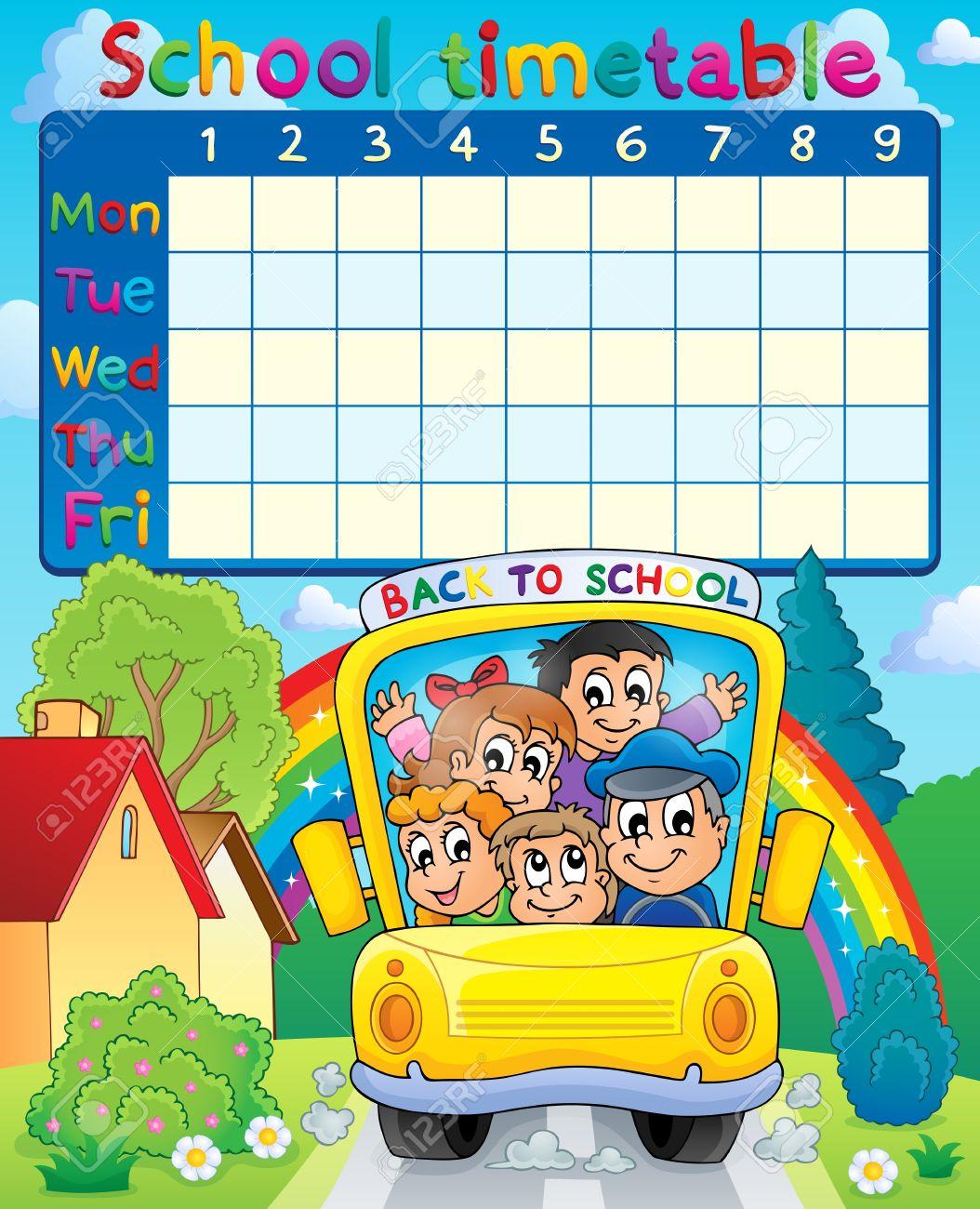 School timetable topic Stock Vector - 21319175