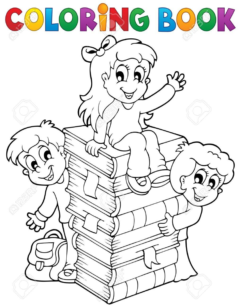 Kids coloring book - Coloring Book Kids Theme 4 Eps10 Vector Illustration Stock Vector 21571121