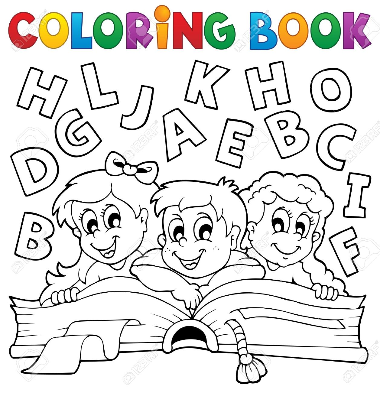 Coloring Book Kids Theme 5 - Eps10 Vector Illustration Royalty Free ...