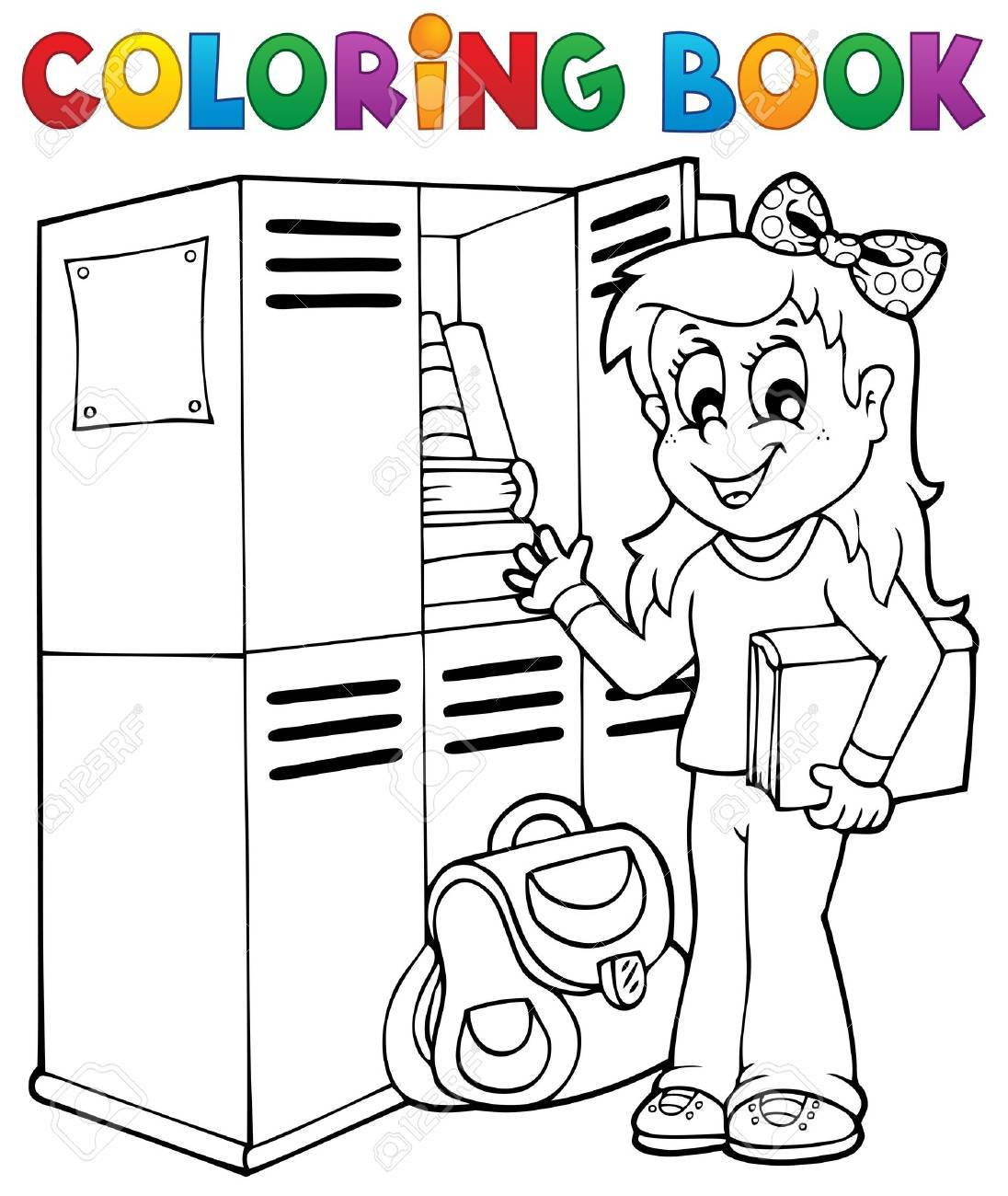 Coloring book school topic 5 - eps10 vector illustration Stock Vector - 21571124