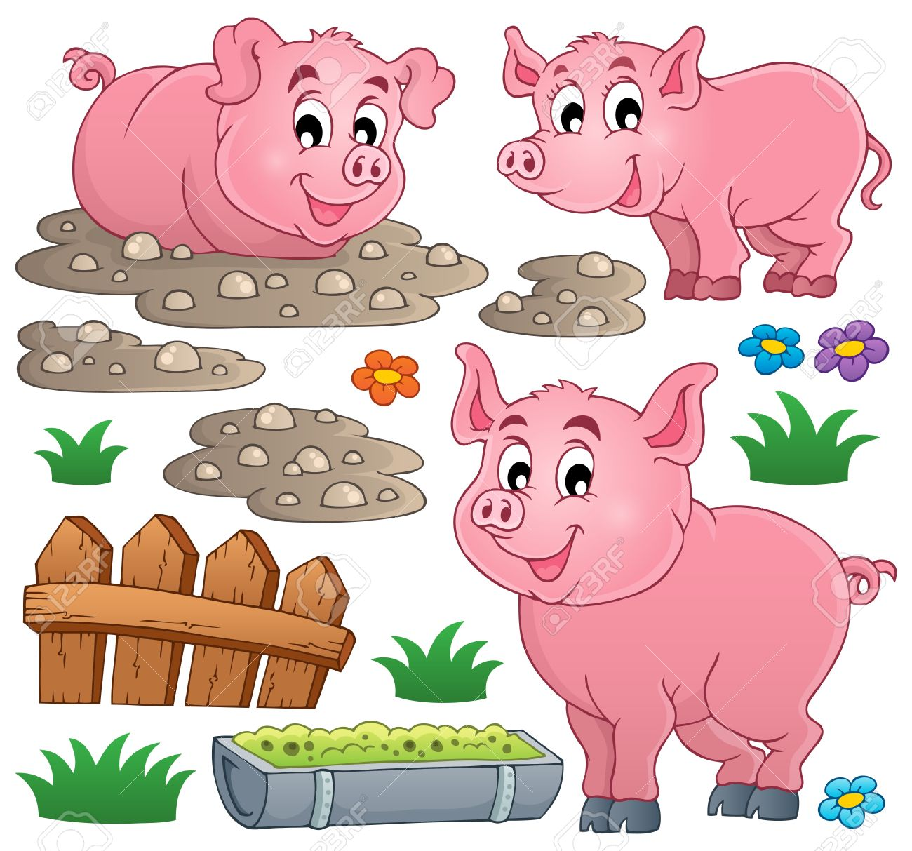 Pig theme collection Stock Vector - 22502248