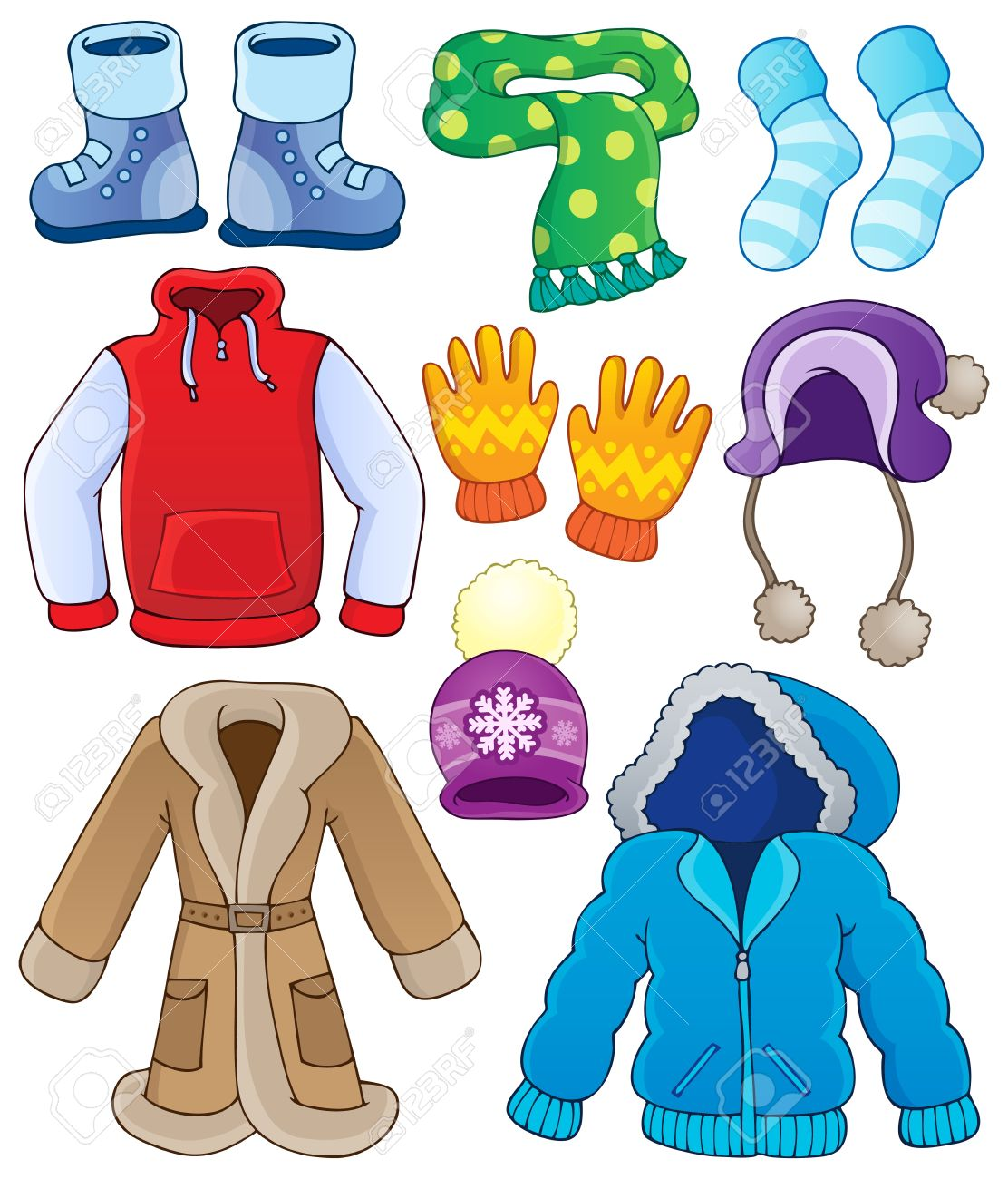 Winter clothes collection - 22502411