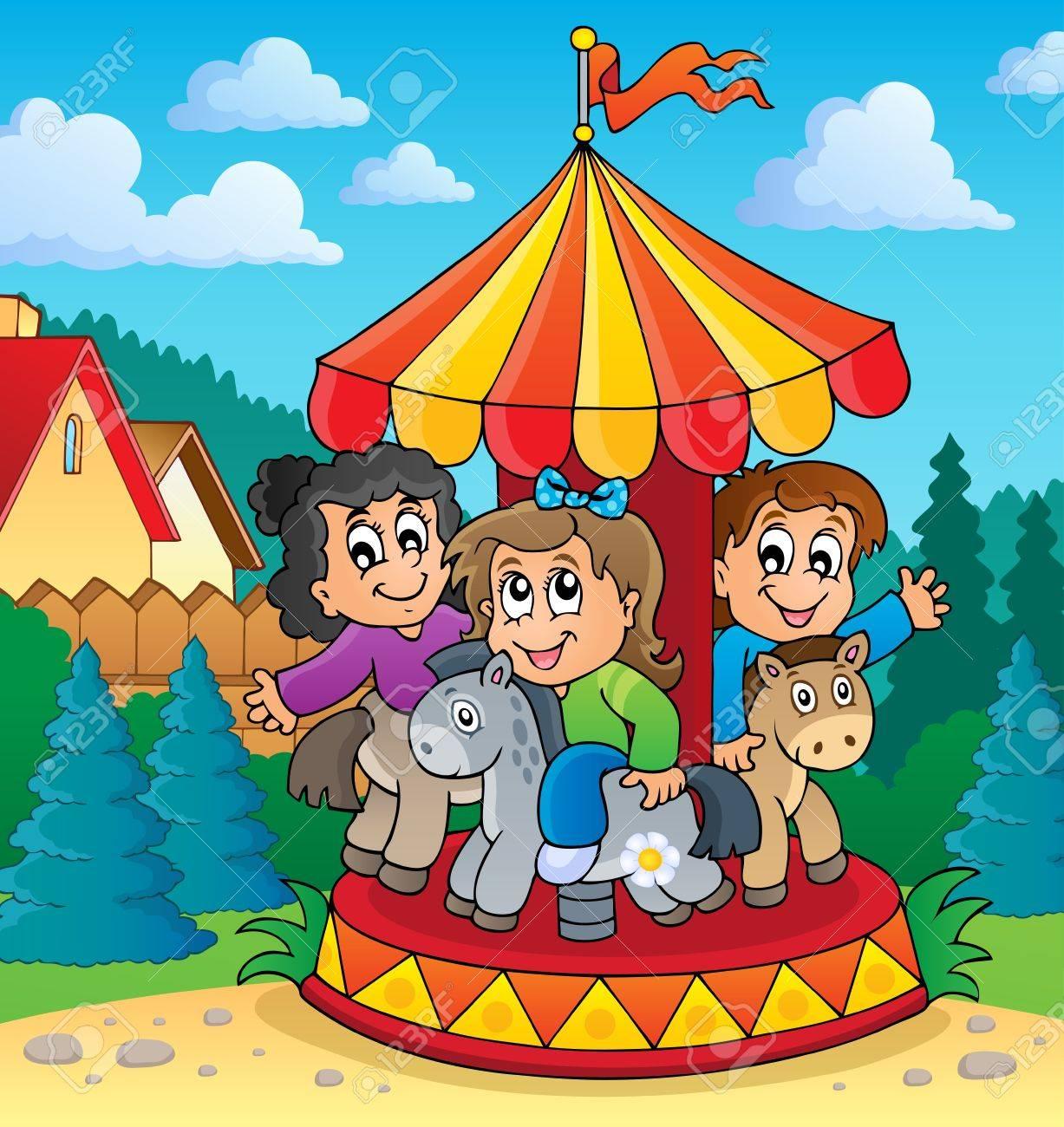 Carousel theme image 2 - eps10 vector illustration Stock Vector - 22867092