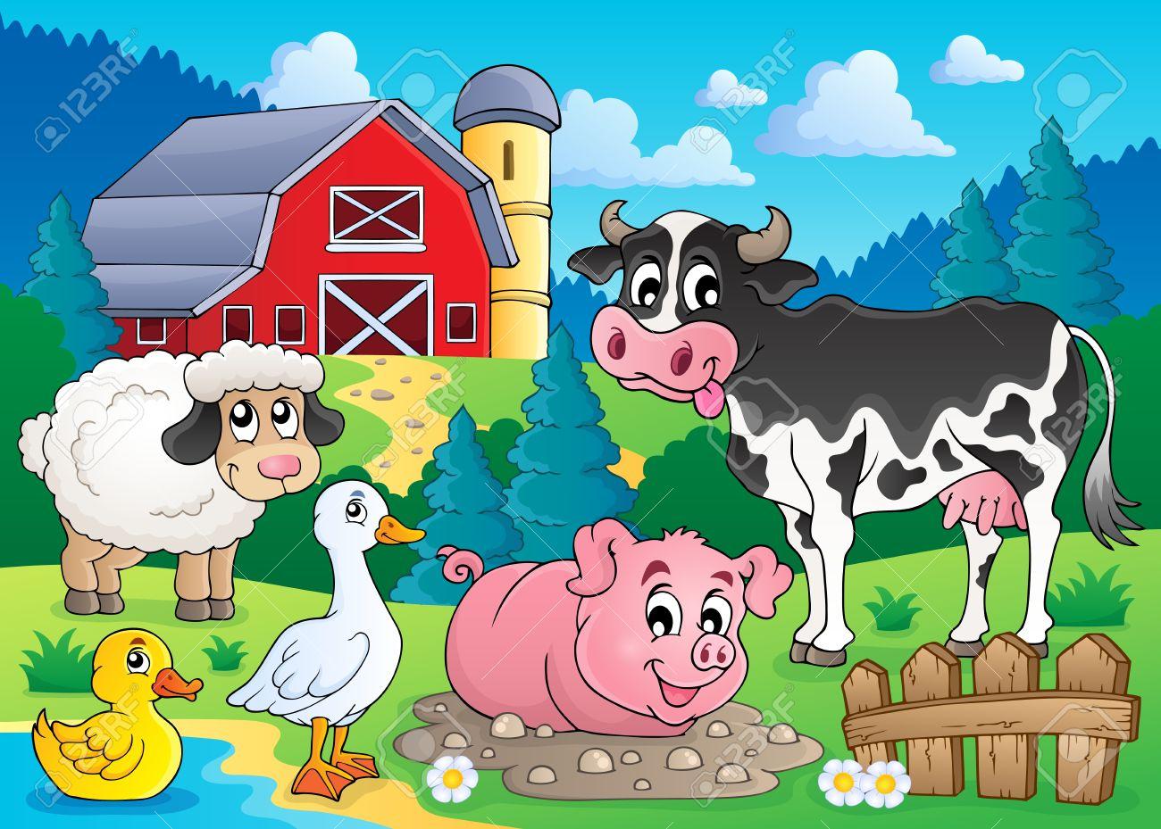 Farm animals theme image 3 - eps10 vector illustration Stock Vector - 22867211