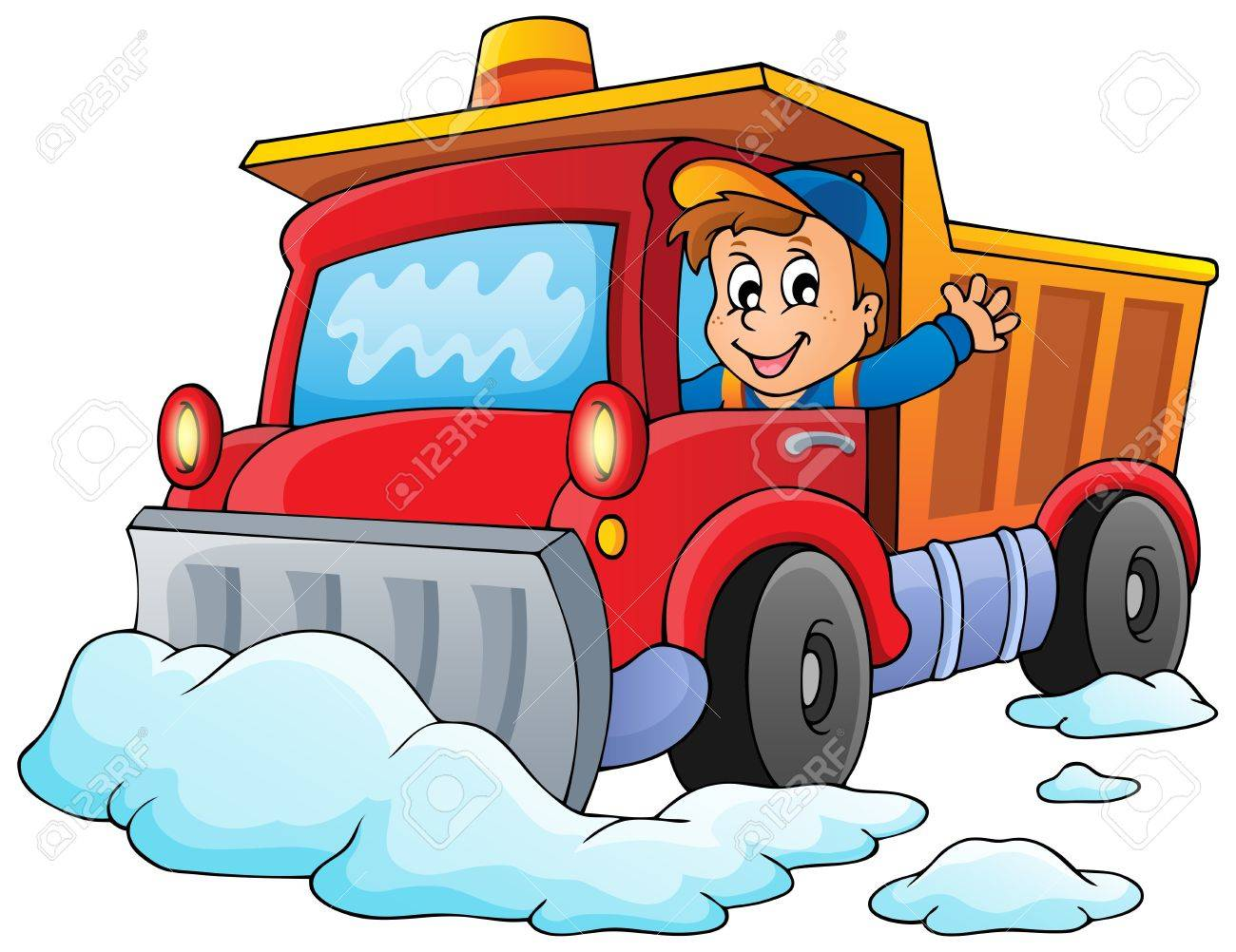 Snow plough theme Stock Vector - 23393893