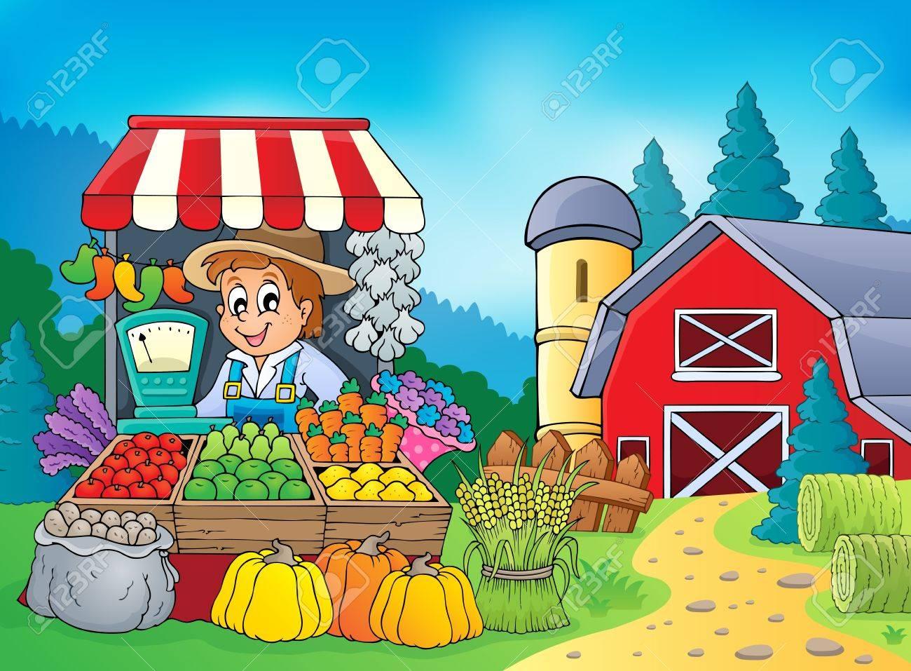 Farmer theme Stock Vector - 23394077