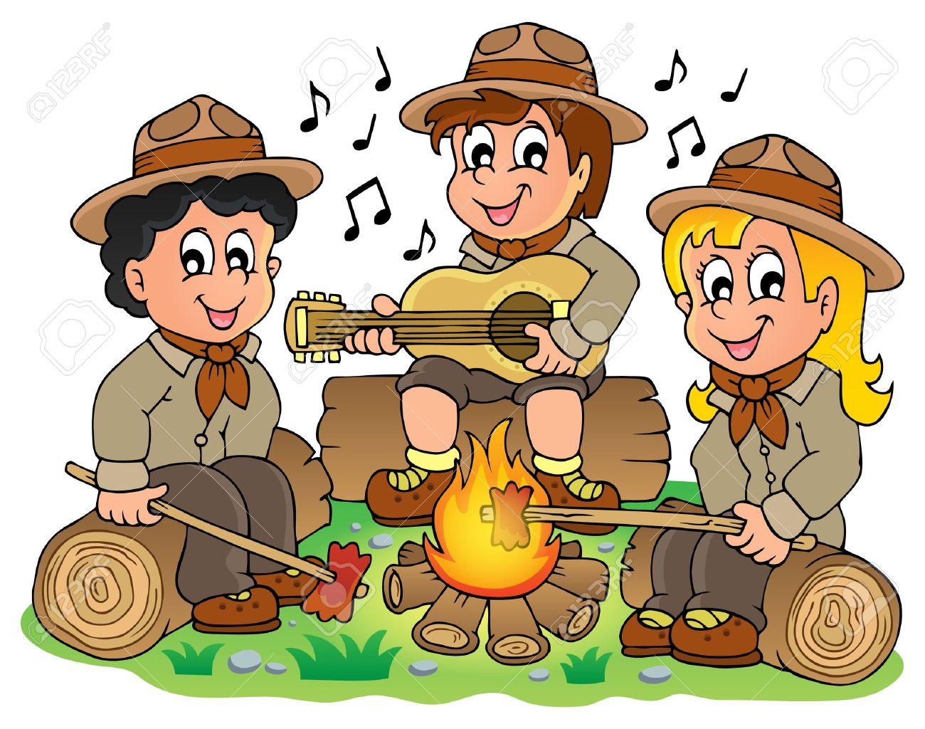 Children scouts theme image 1 - eps10 vector illustration Stock Vector - 27507481