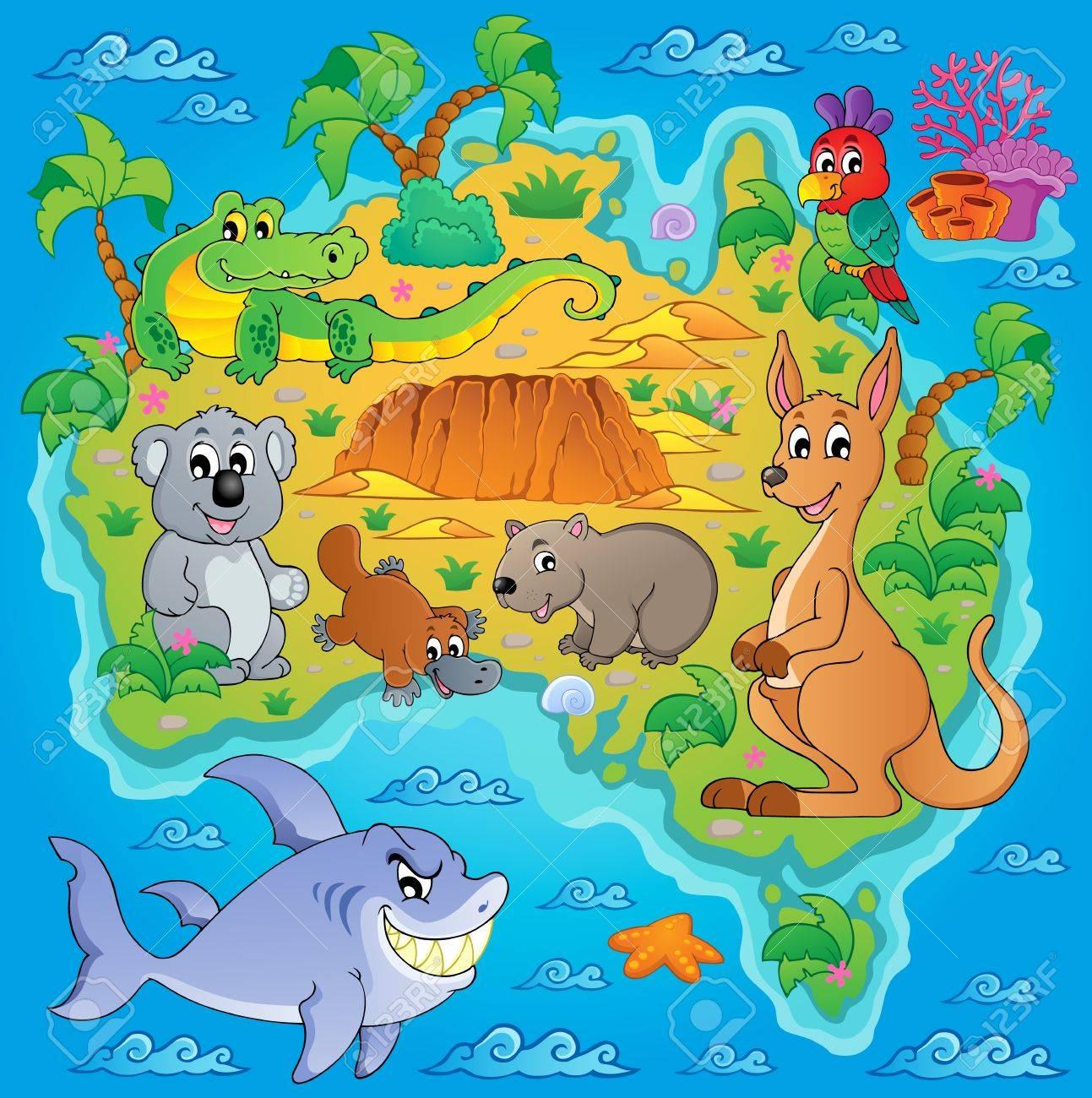 Mapa Tematico De Australia Ilustraciones Vectoriales Clip Art