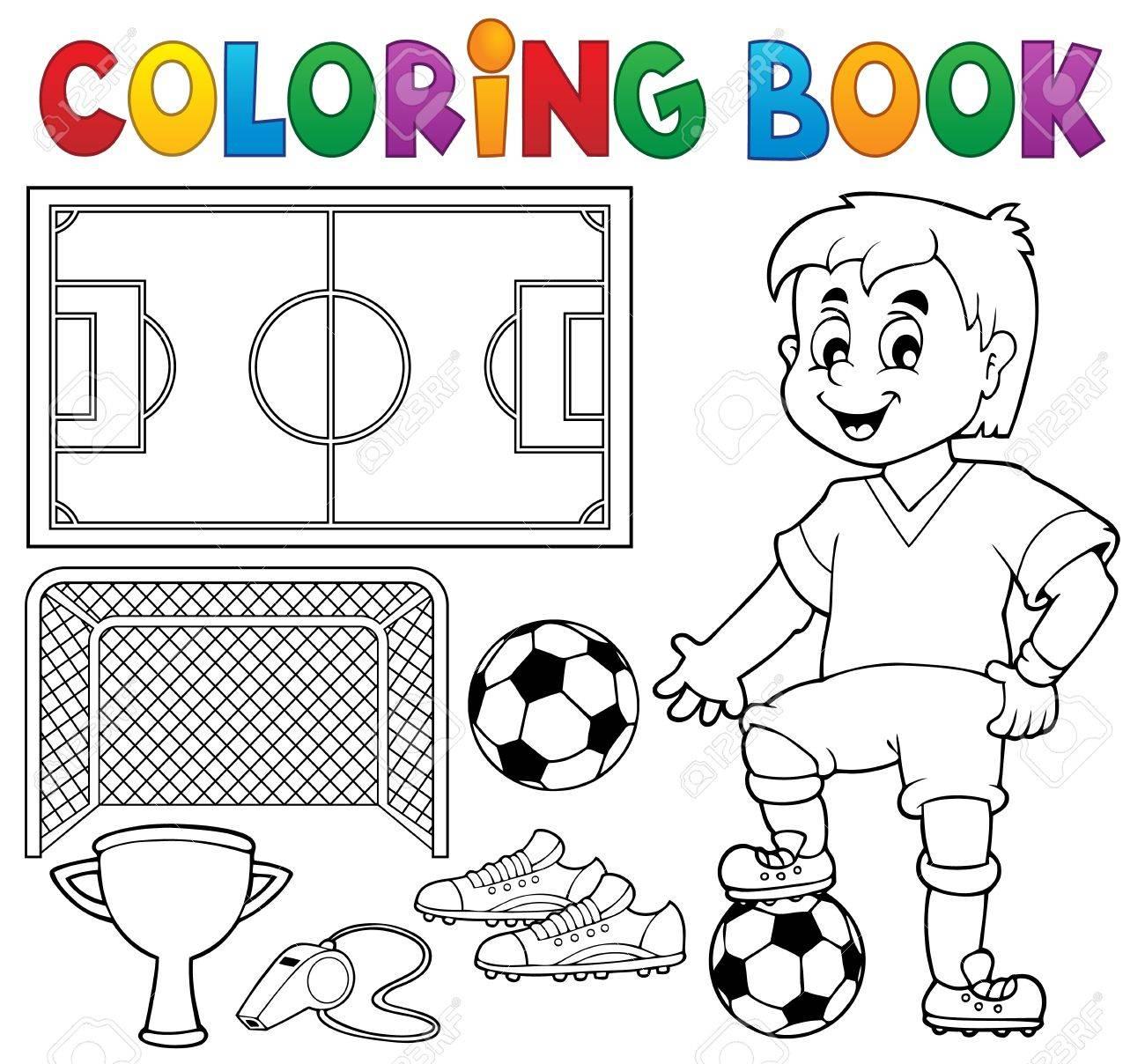 Malbuch Fußball-Design Lizenzfrei Nutzbare Vektorgrafiken, Clip Arts ...