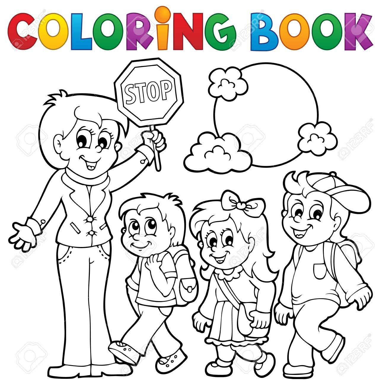 Coloring book school - Coloring Book School Kids Theme Stock Vector 30874801