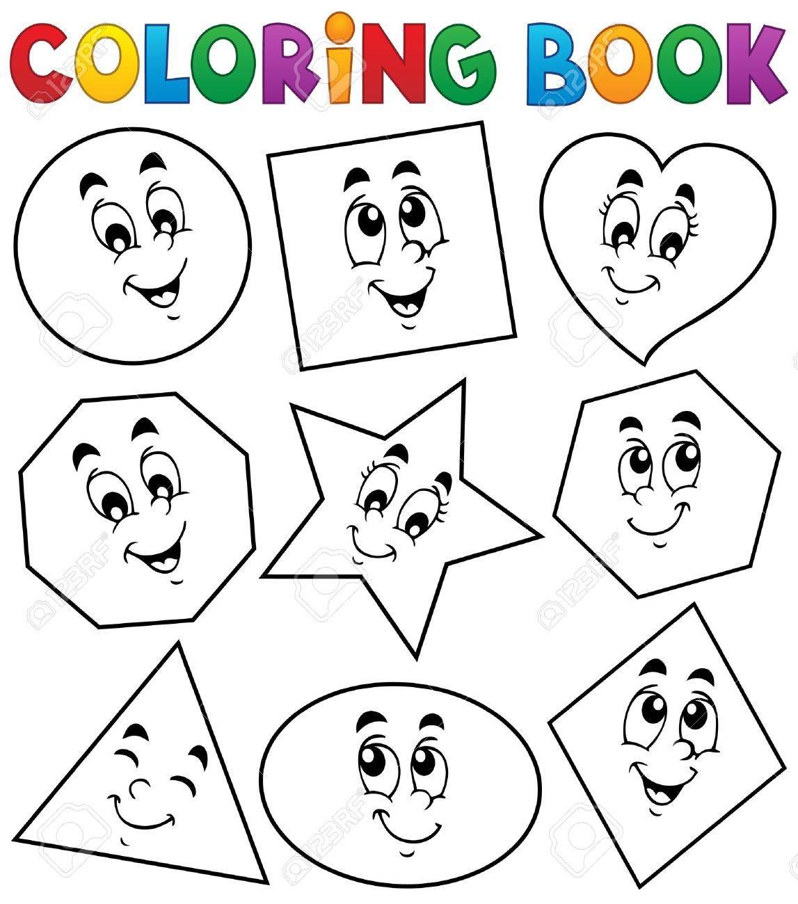 Coloring Book Various Shapes Royalty Free Cliparts, Vectors, And ...