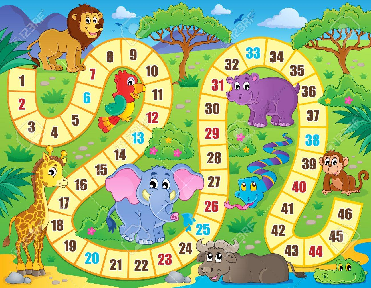 Board game theme image Stock Vector - 35432389