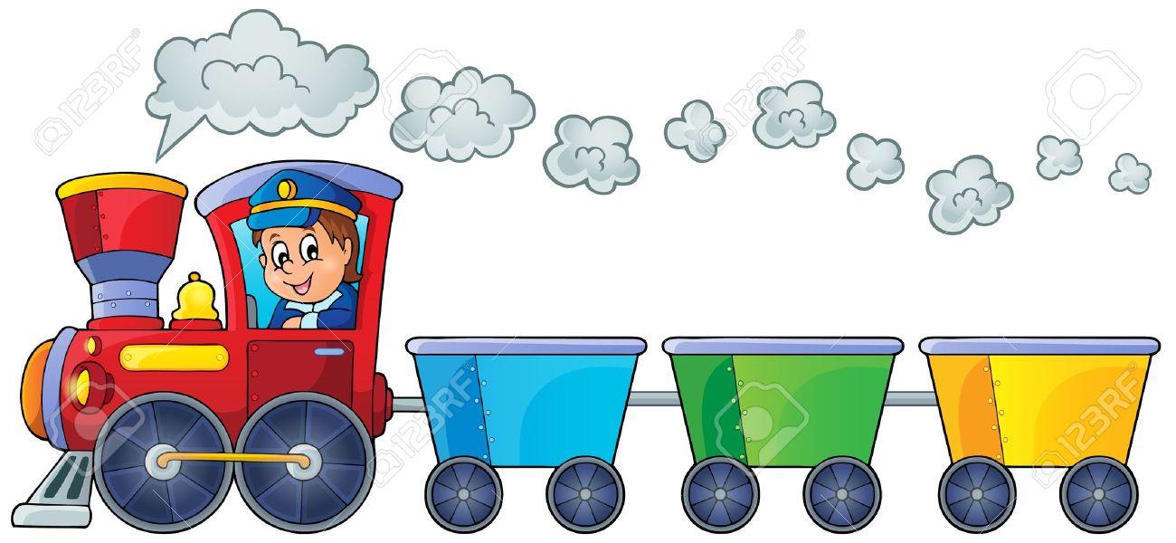 Train with three empty wagons Stock Vector - 35433173