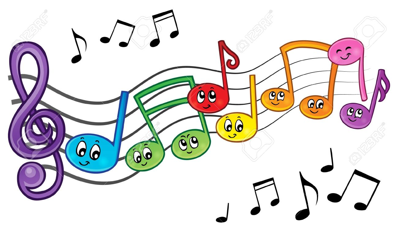Cartoon music notes theme image 2 - eps10 vector illustration. Stock Vector - 36328236
