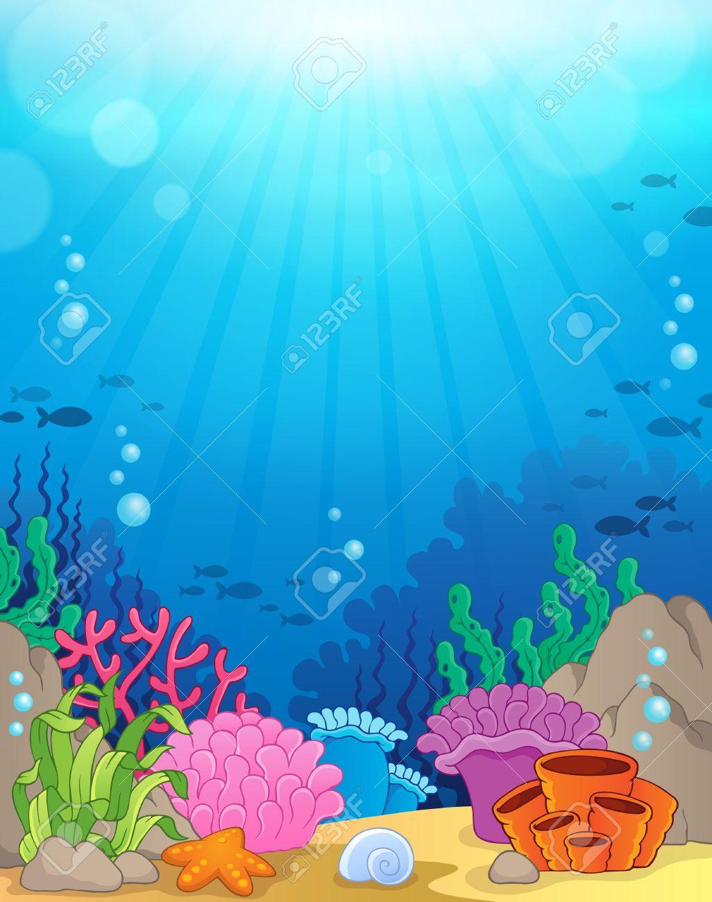 Ocean underwater theme background Stock Vector - 38471905