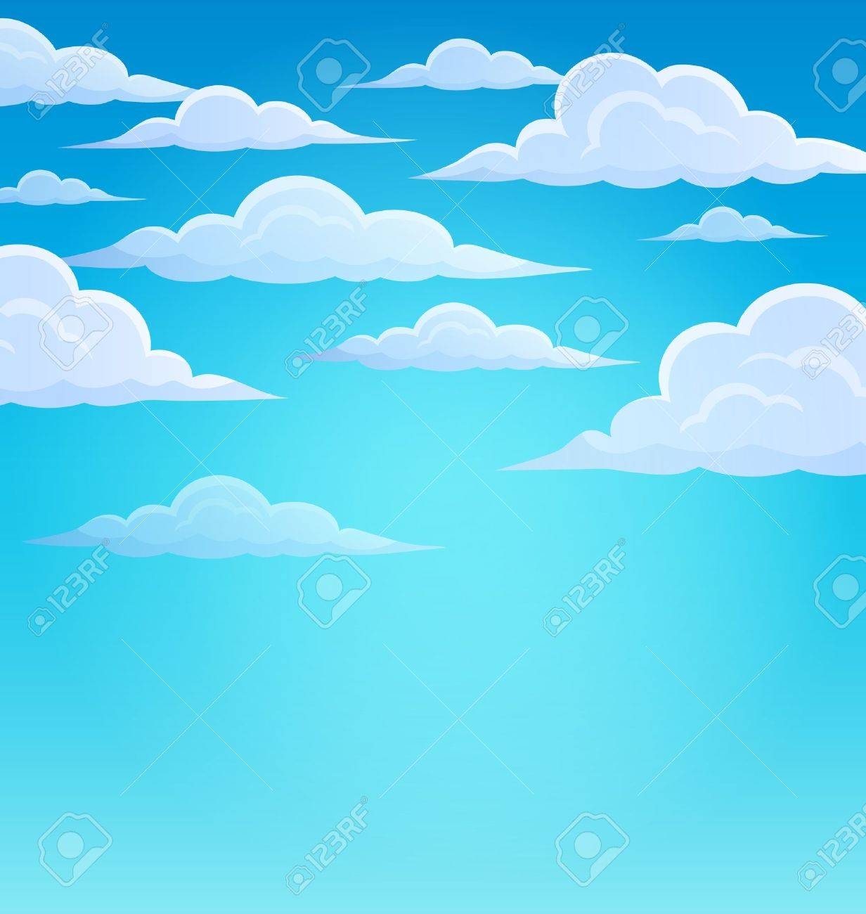 Clouds on sky theme 1 - eps10 vector illustration. Stock Vector - 38945427
