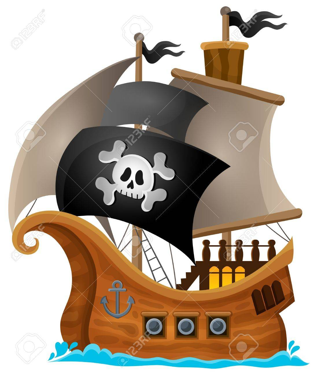 Pirate ship topic image 1 - eps10 vector illustration. Stock Vector - 41374778