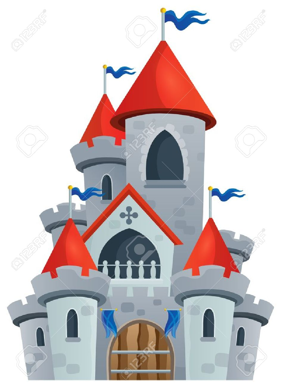 Fairy tale castle theme image Stock Vector - 41377217