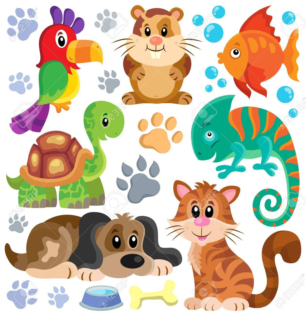 Pets theme collection Stock Vector - 41377230