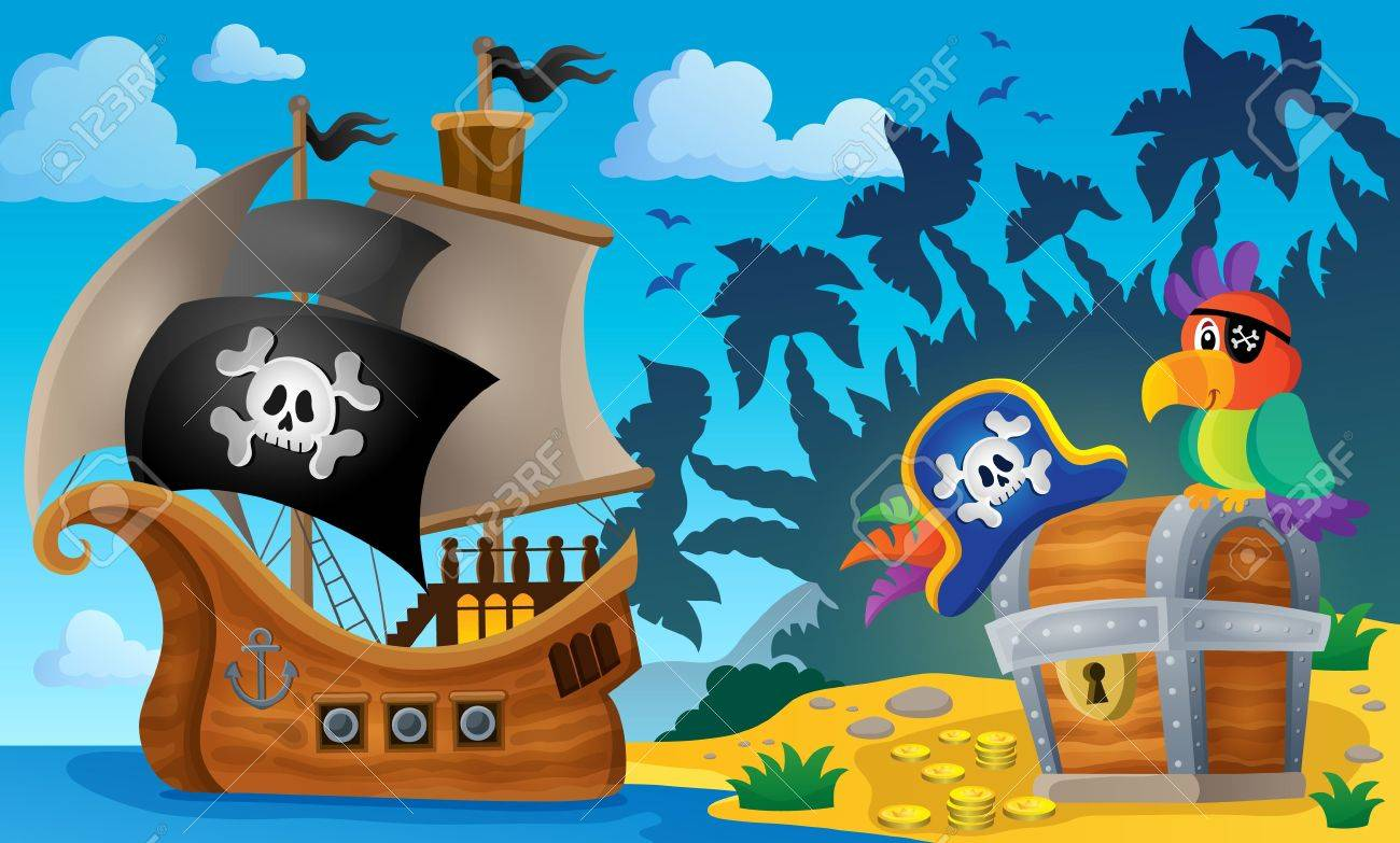 Pirate ship topic image 6 - eps10 vector illustration. Stock Vector - 41377348