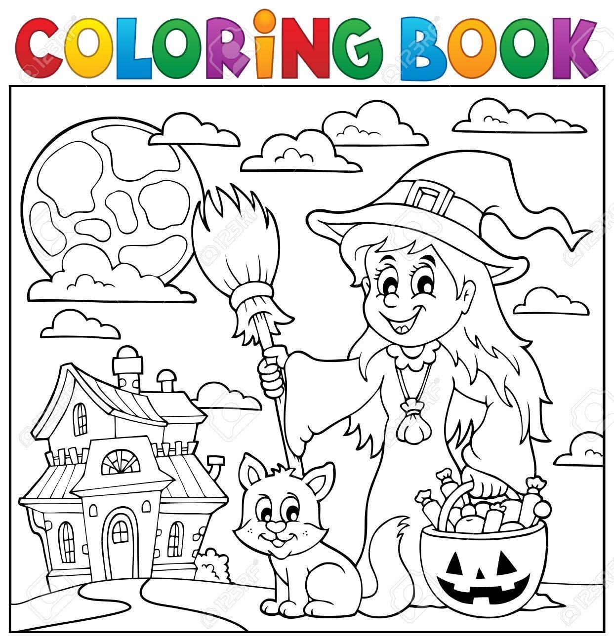 Libro Para Colorear Temática De Halloween 1 Ilustraciones ...