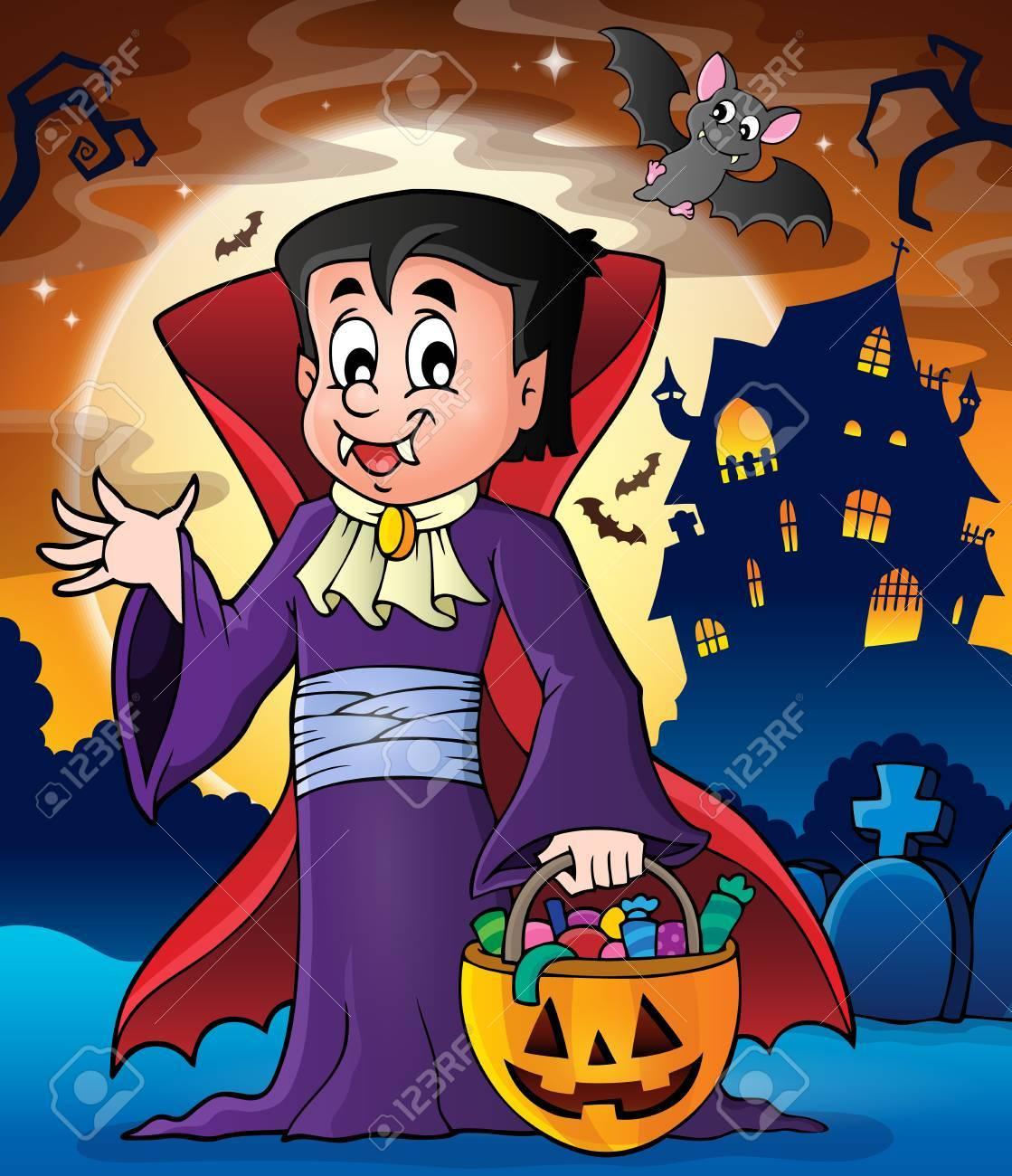 Halloween Vampire Theme Image 2 Stock Vector 44103410