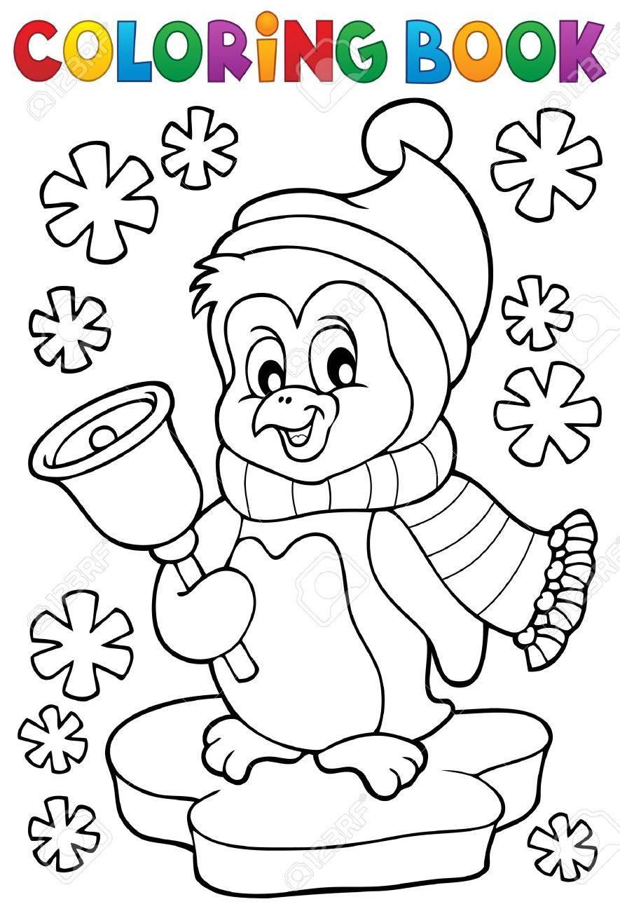 Livre De Coloriage Pingouin De Noël Sujet 1 Clip Art Libres De
