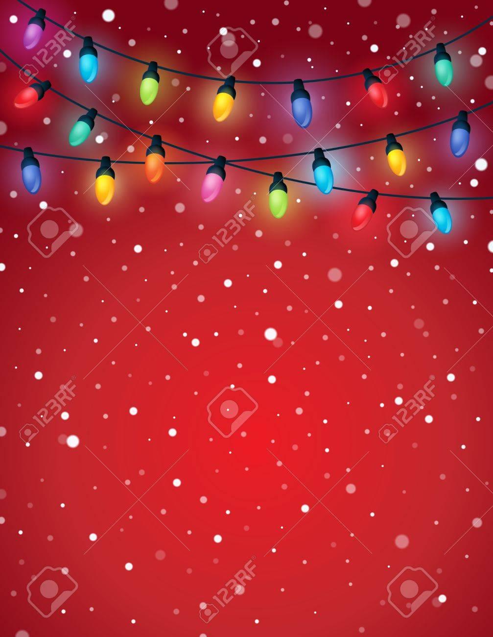 Christmas lights theme image 5 - eps10 vector illustration. Stock Vector - 48150577