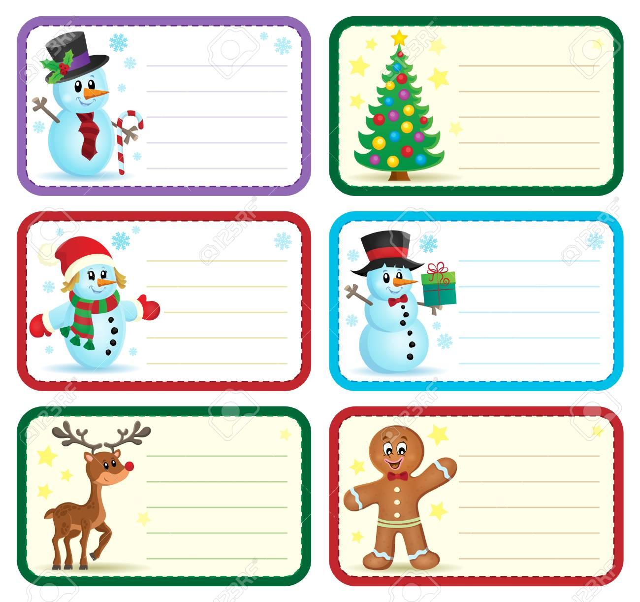 Christmas Name Tags.Christmas Name Tags Collection
