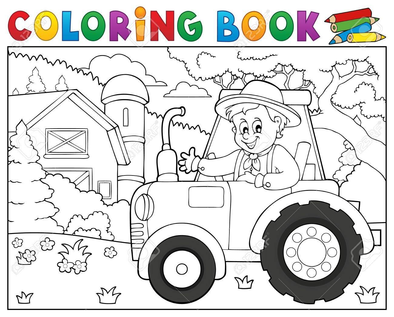 Contemporáneo Tractor Para Colorear Libro Foto - Dibujos Para ...