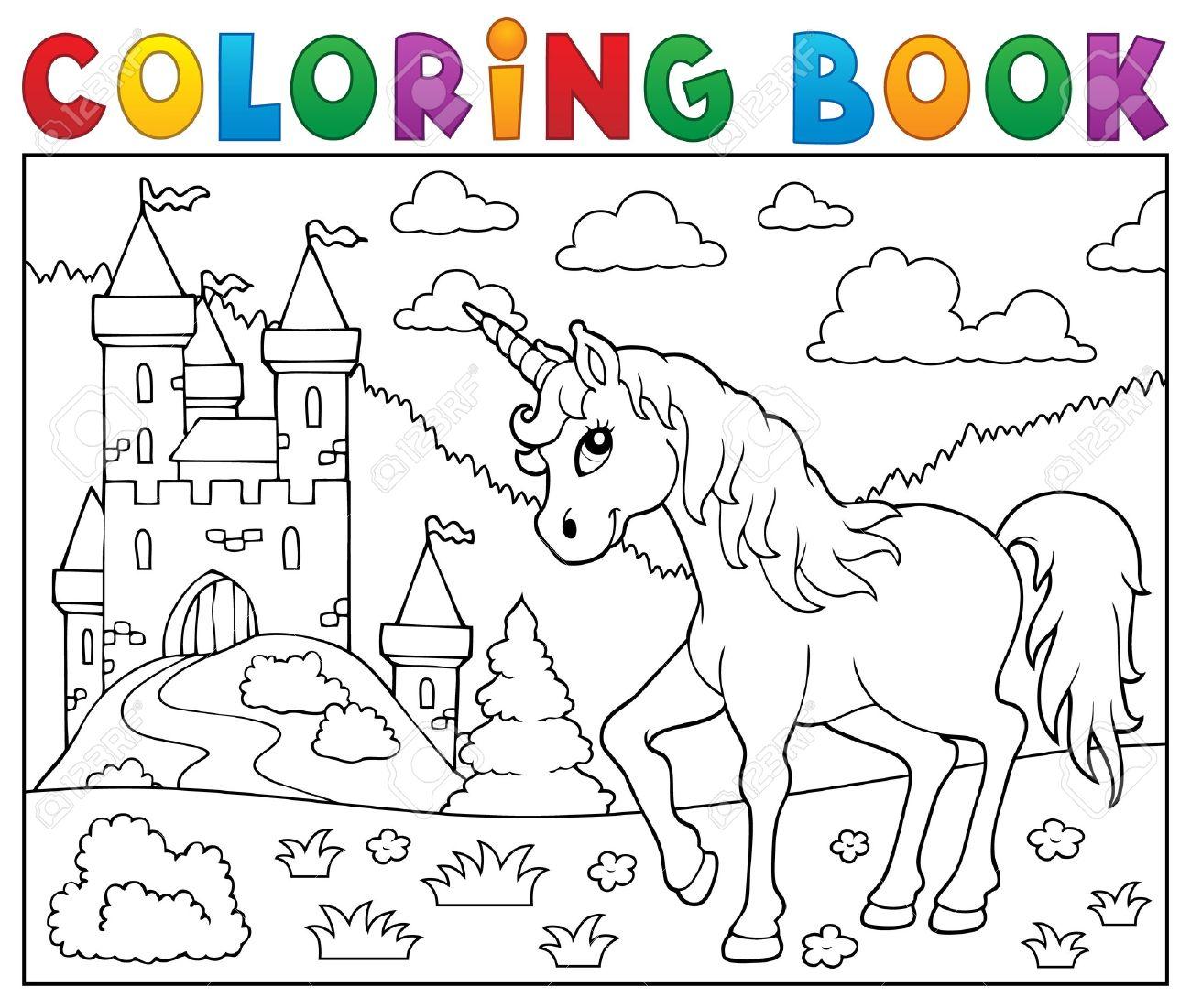 Coloring book unicorn. - 53431156