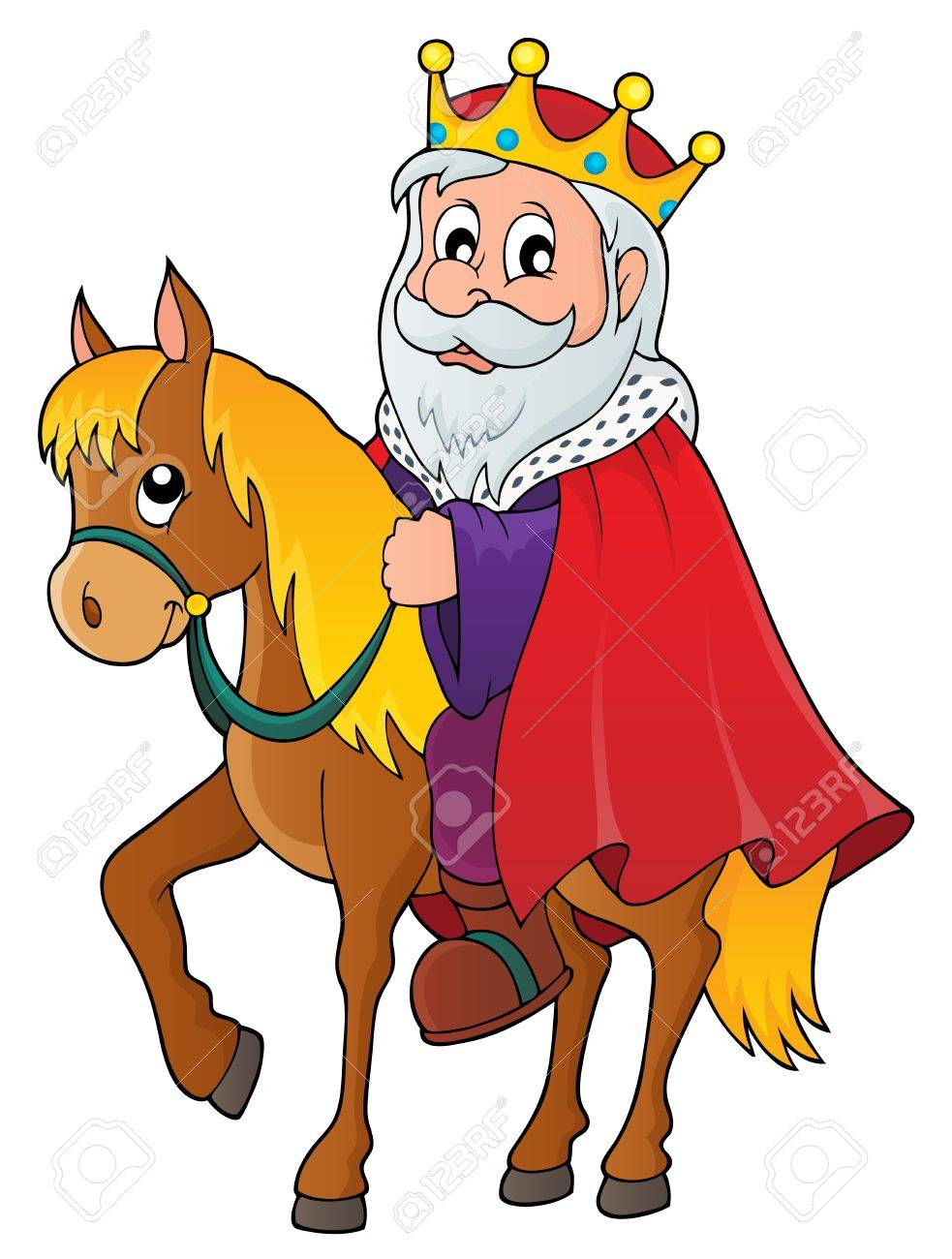 King On Horse Theme Image Royalty Free Cliparts Vectors And Stock Illustration Image 53431160