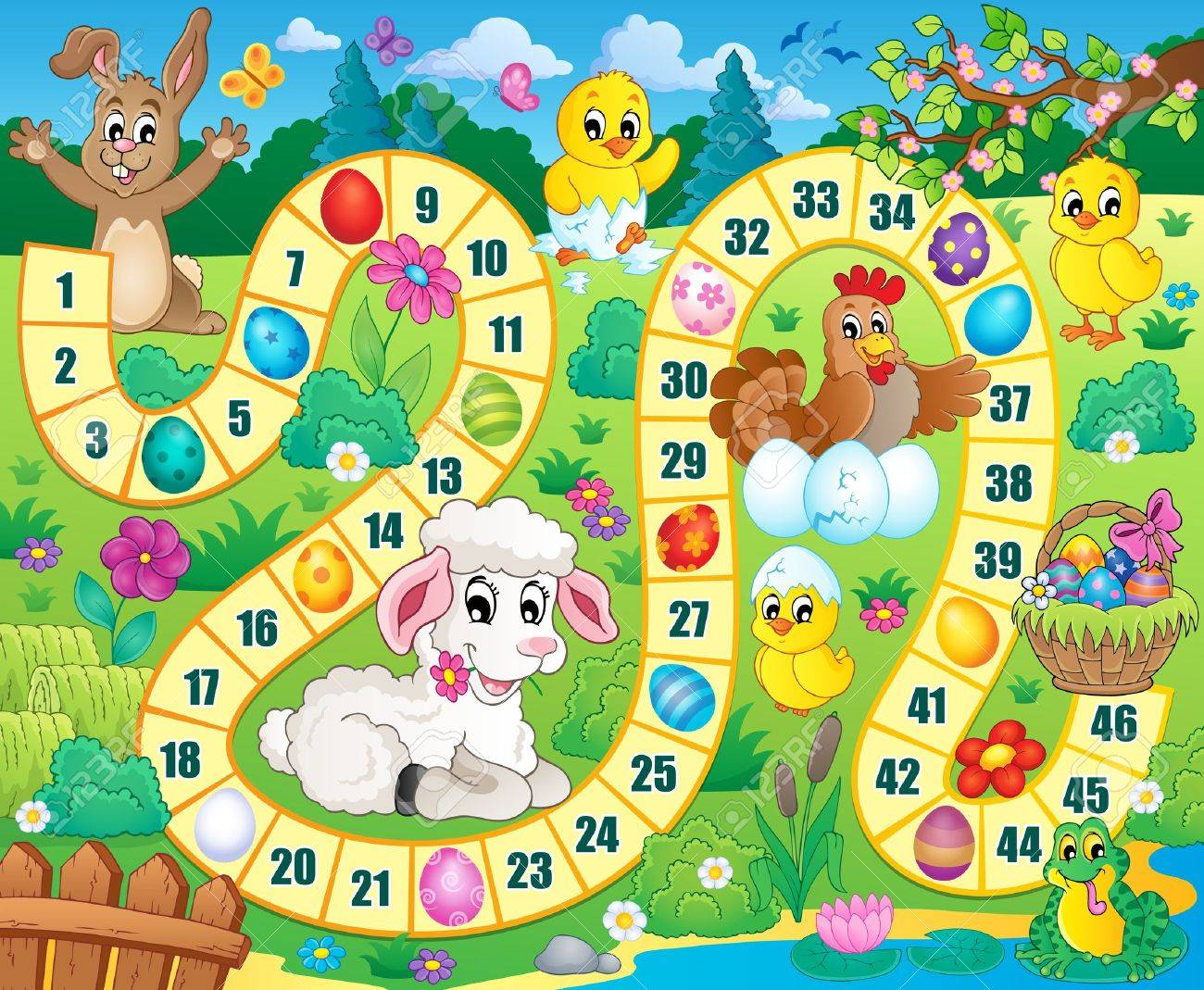 Board Game Image With Easter Theme. Royalty Free Cliparts, Vectors ...