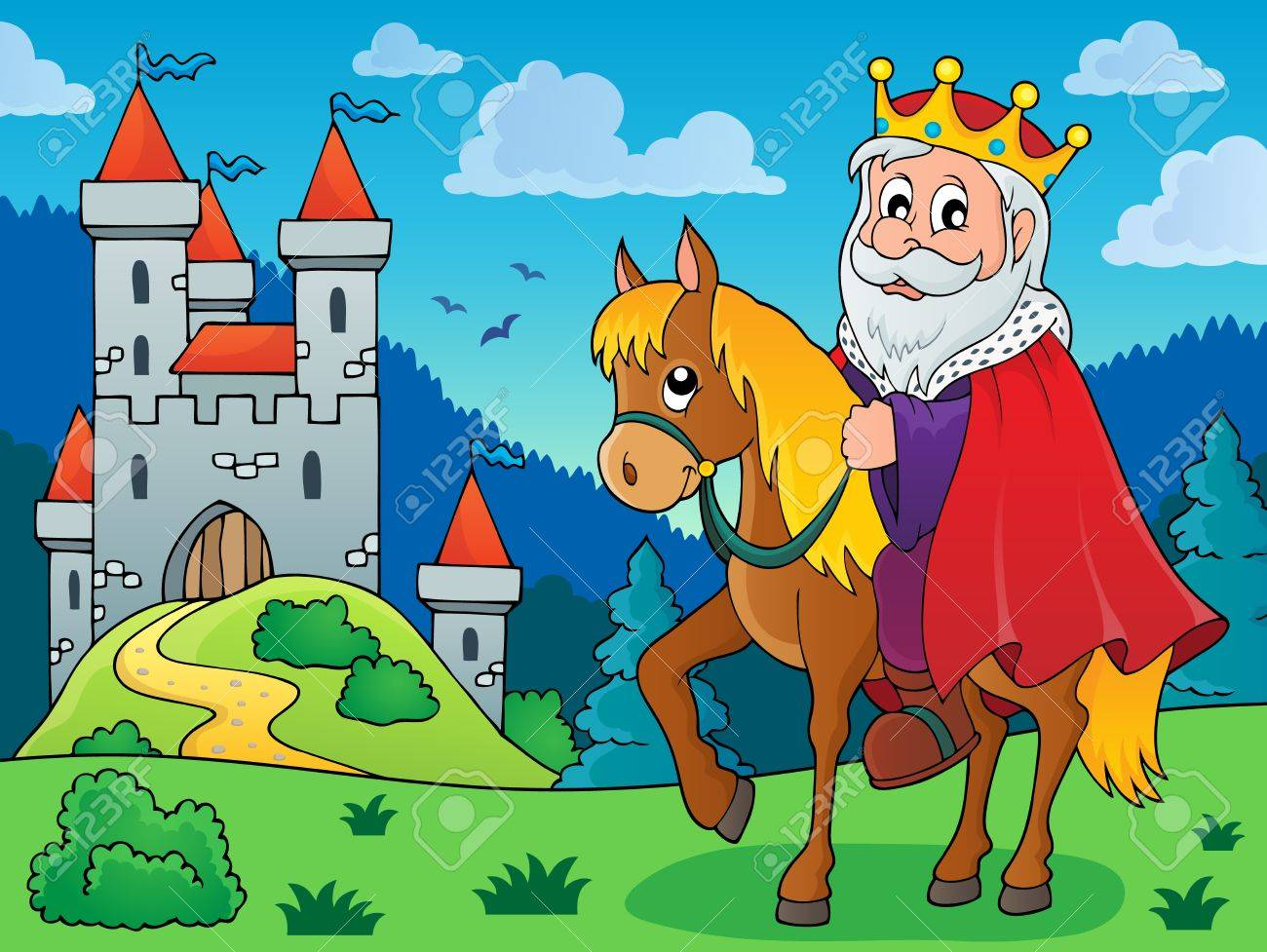 King On Horse Theme Image Royalty Free Cliparts Vectors And Stock Illustration Image 53435497