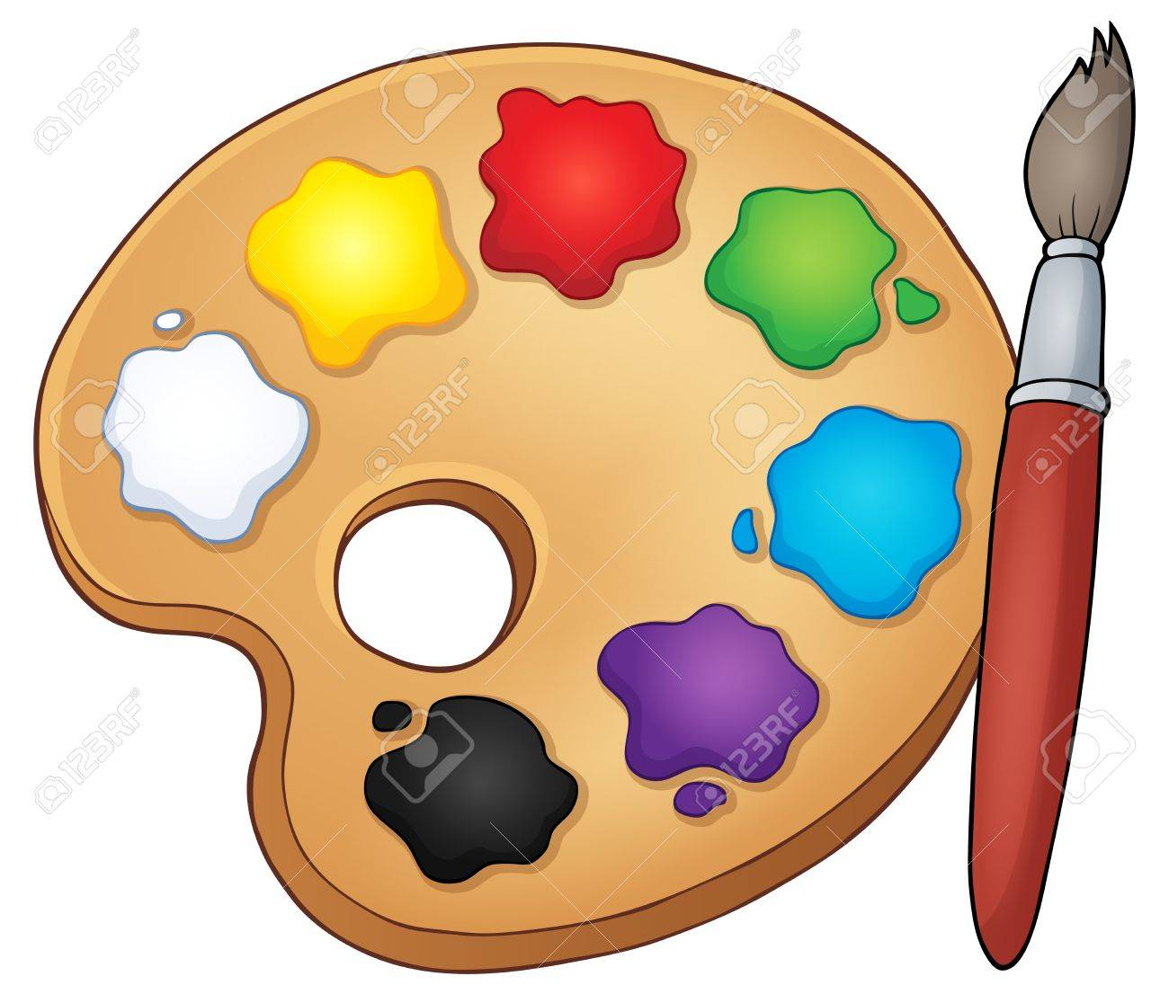 Paint Palette Theme Image Royalty Free Cliparts Vectors And Stock