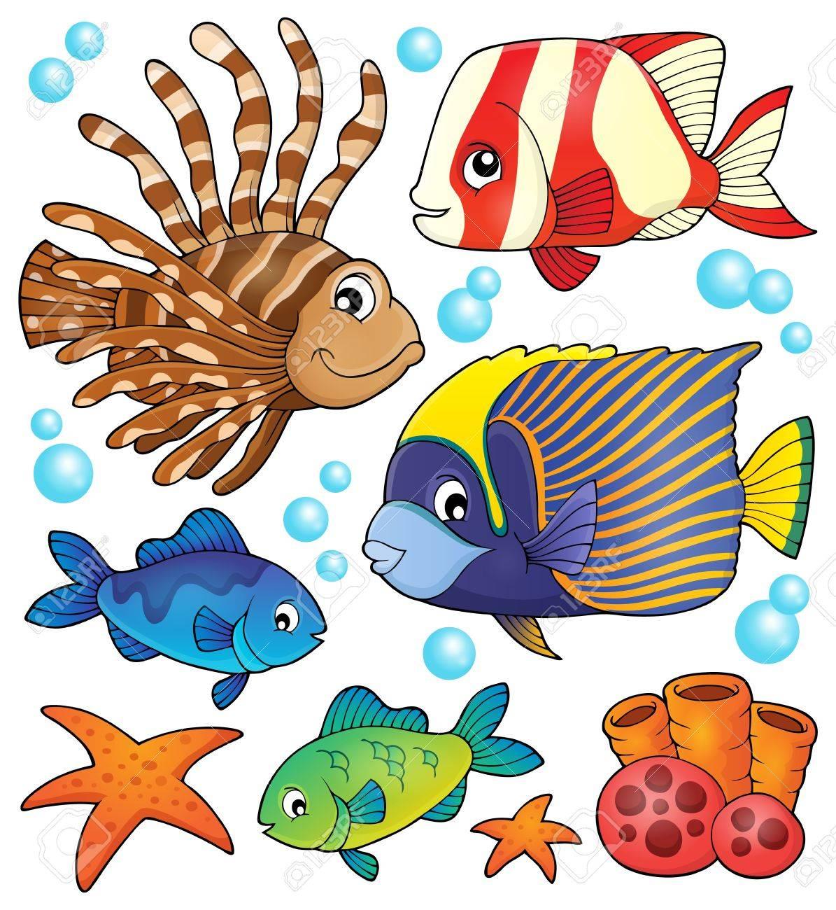 Tema Colección De Peces De Arrecife De Coral Ilustraciones ...