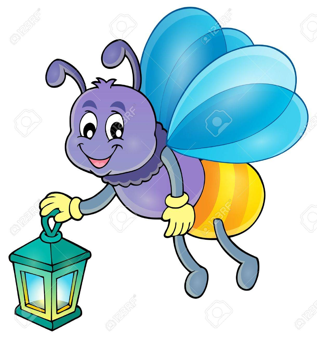firefly with lantern vector illustration royalty free cliparts rh 123rf com