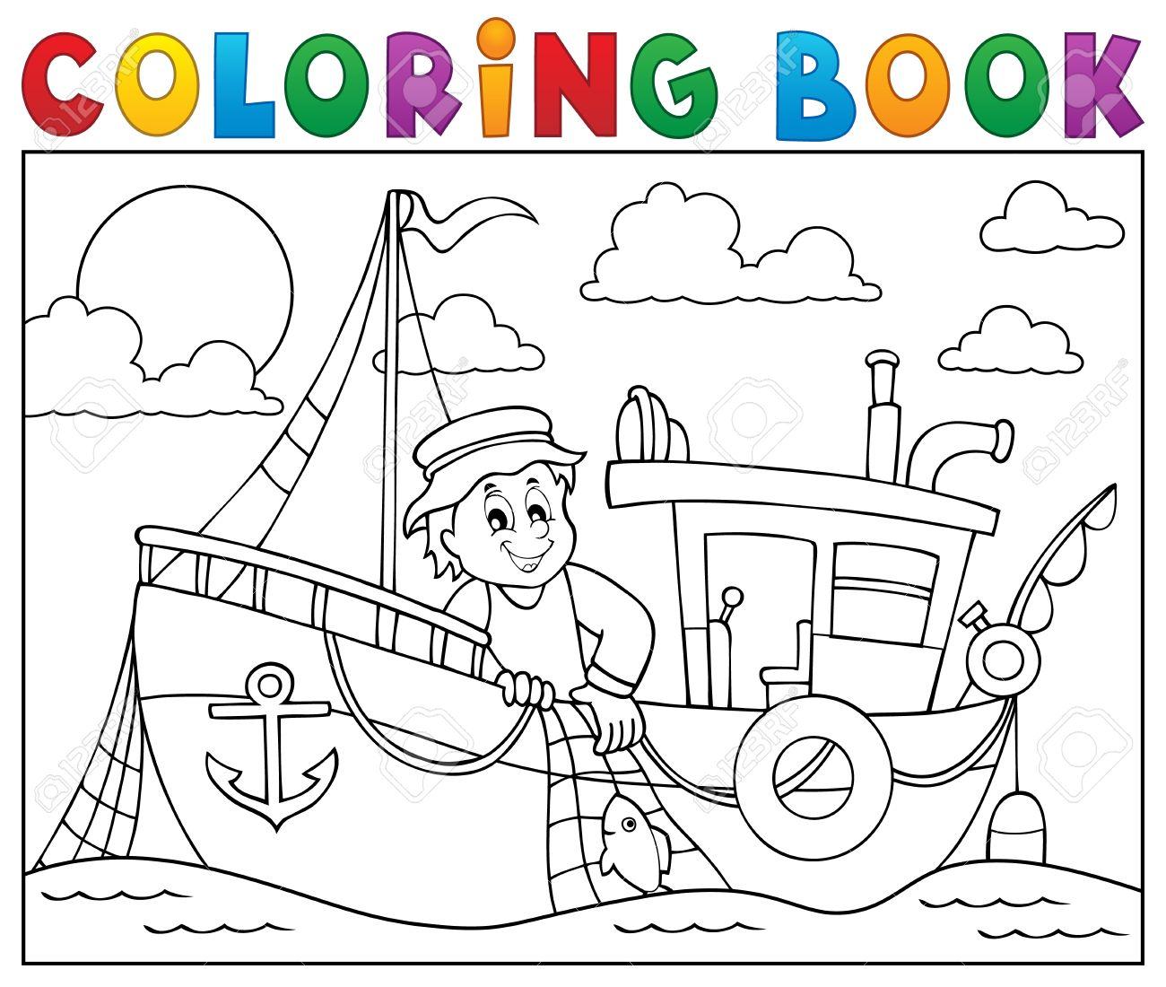 Vistoso Barco Simple Para Colorear Composición - Ideas Para Colorear ...