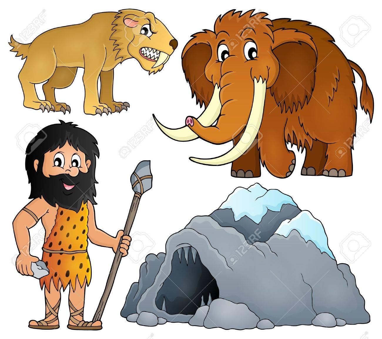 Prehistoric theme set - 58616033