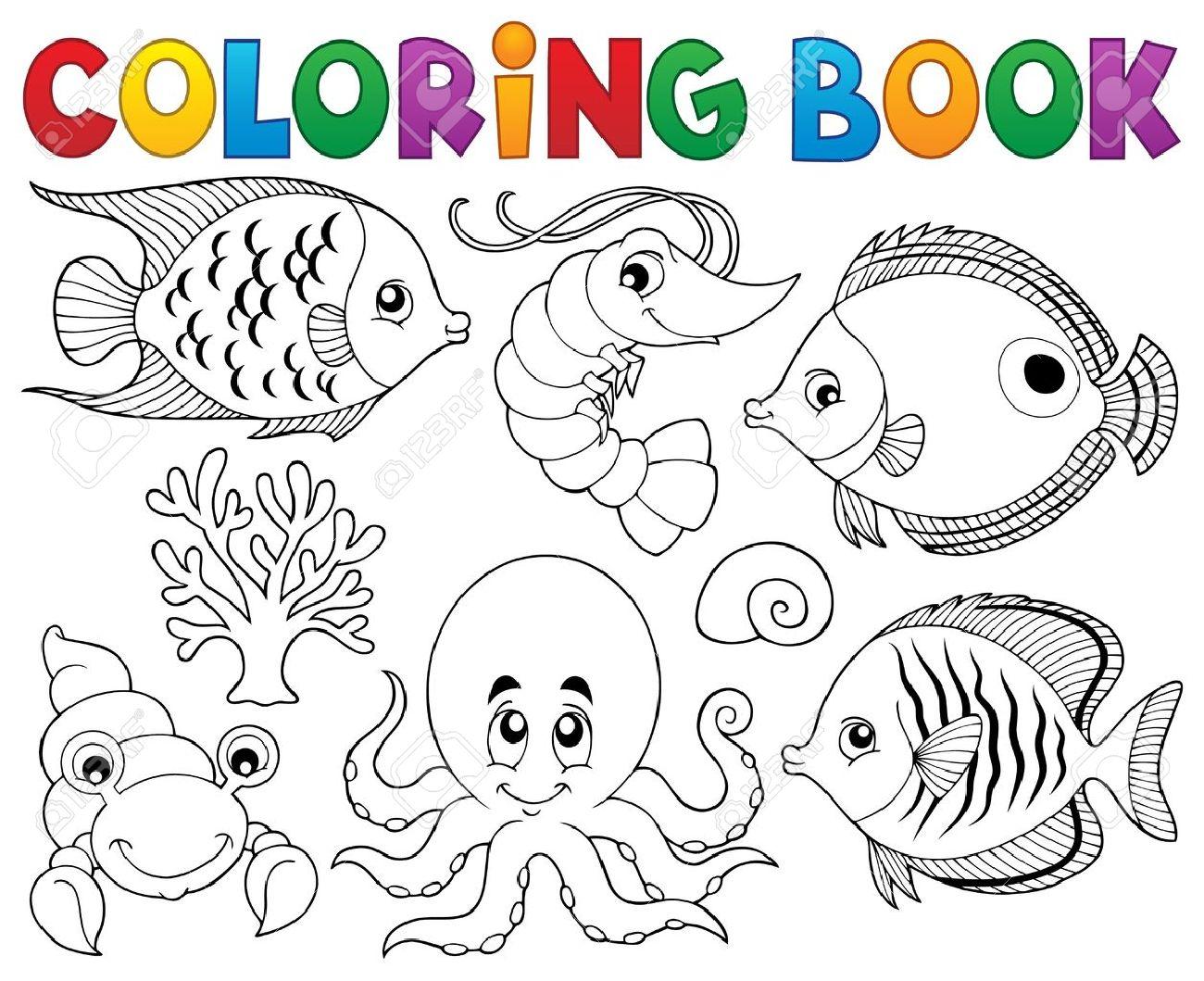 Encantador Animales De La Vida Marina Para Colorear Viñeta - Dibujos ...