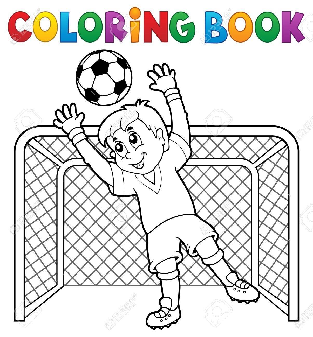 Tema 2 Del Fútbol Del Libro De Colorear Ejemplo Del Vector Eps10