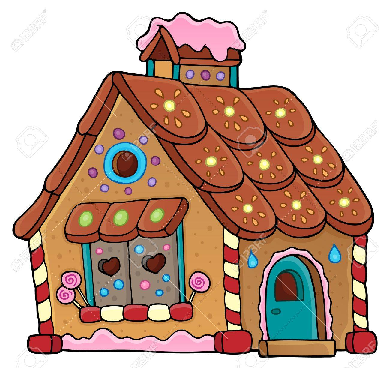 gingerbread house theme image 1 eps10 vector illustration royalty rh 123rf com gingerbread house clip art black and white gingerbread house clip art images