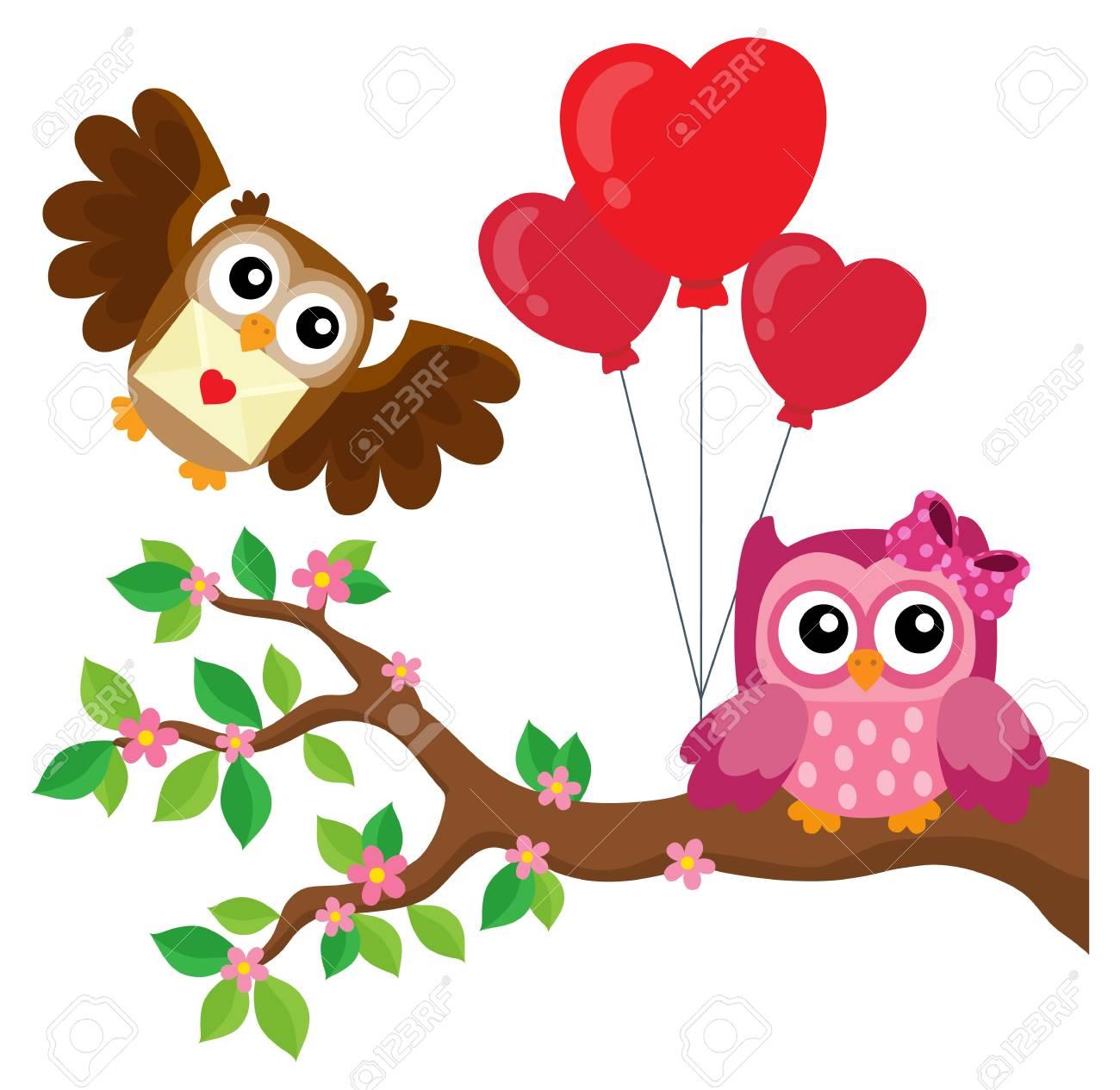 Black - Valentine Owl Clipart - Free Transparent PNG Clipart Images Download