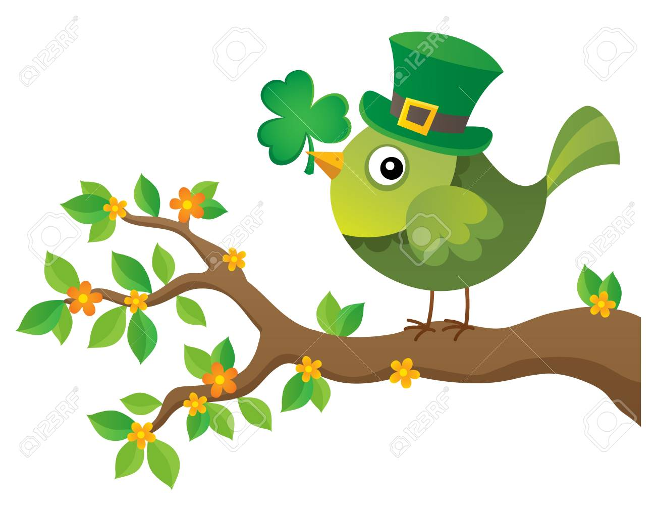 Image result for St. patrick's day bird clipart