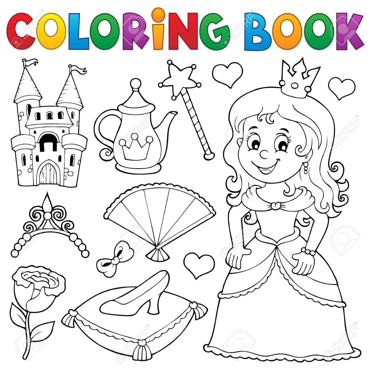 58 Coloring Book With Princess Best HD