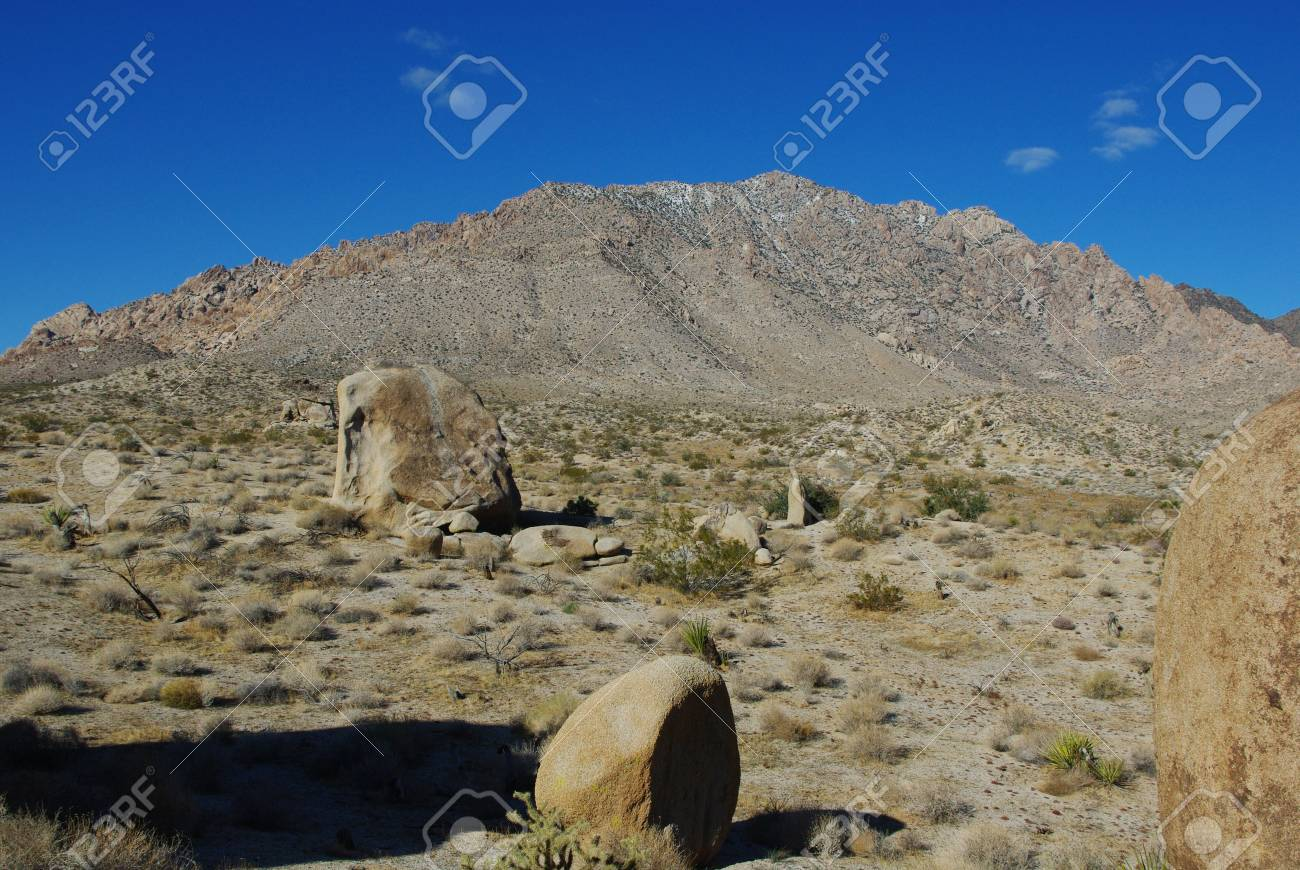 High desert rocks and mountains, Nevada Stock Photo - 13174821