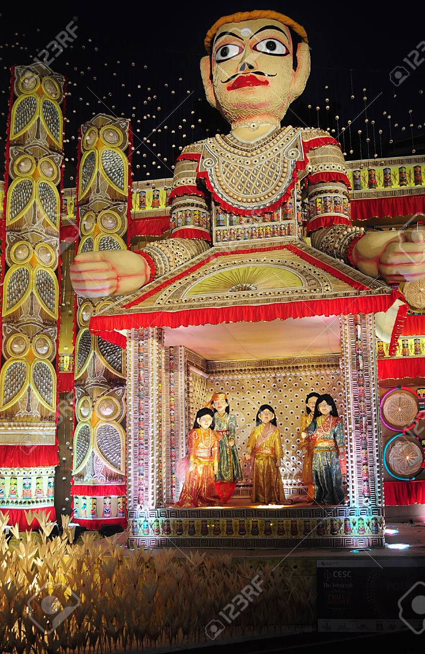 Pandal decoration in durga puja festival stock photo picture and pandal decoration in durga puja festival stock photo 57419247 altavistaventures Choice Image